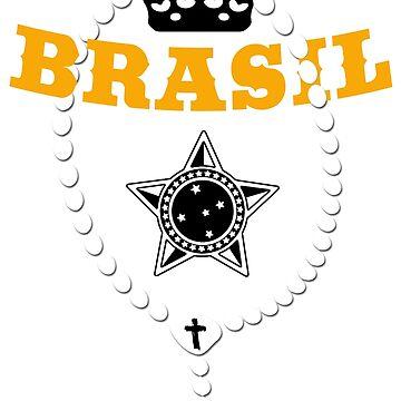 Brasil - Coat of Arms - Football - Soccer - Brazil by lemmy666
