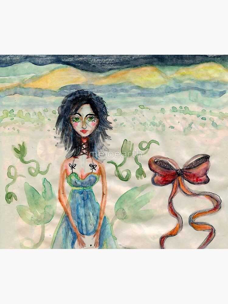 Girl Alone in desert with Bow Meloearth by meloearth