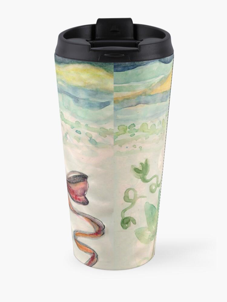 Alternate view of Girl Alone in desert with Bow Meloearth Travel Mug