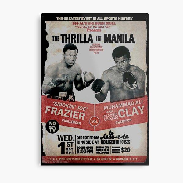 The Thrilla in Manila - FRAZIER VS ALI Metal Print