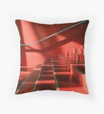 red stairs Throw Pillow
