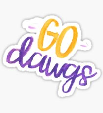 Go Dawgs (University of Washington) Sticker