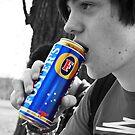 Matt Drinking Fosters by shakey123