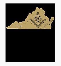 Virginia Masonic Secrets Masonic Ritual Shirt Masonic Gifts Photographic Print