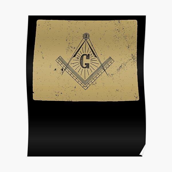 Wyoming Masonic Symbols T Shirt Freemason Shirt Poster