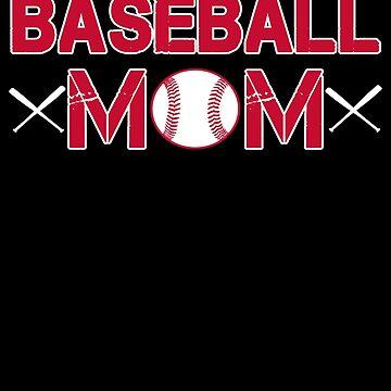 Baseball Mom T Shirt by shoppzee