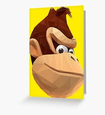 Donkey Kong - Triangulation Vector Greeting Card
