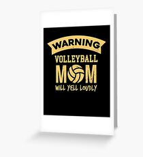 Funny Volleyball Apparel Greeting Card