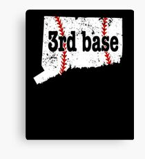3rd Base Fastpitch Softball Connecticut 3rd Base Baseball Canvas Print