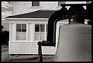 Bell at Monhegan lighthouse by Dave  Higgins