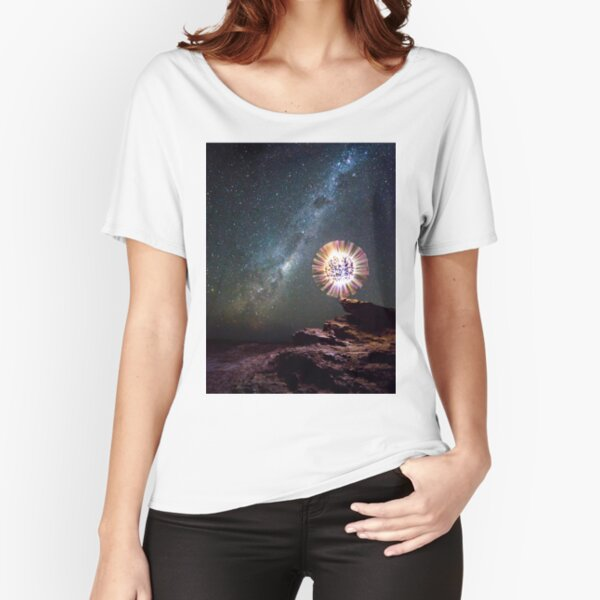 An orb and the Milky Way Relaxed Fit T-Shirt
