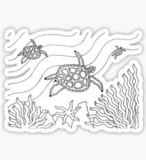 Goorlil - turtle / Back in black Sticker