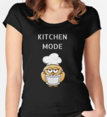 Funny kitchen mode design Women's Fitted Scoop T-Shirt