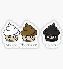Cupcake Ninja Sticker