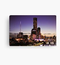 Melbourne Night Sky Canvas Print