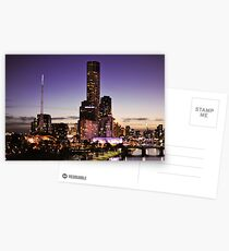 Melbourne Night Sky Postcards