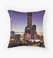 Melbourne Night Sky Throw Pillow