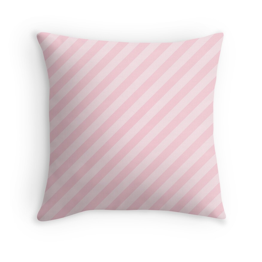 Mini Soft Pastel Pink Candy Cane Stripes