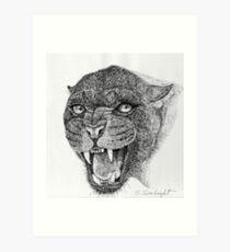 Black Leopard Art Print