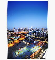 Melbourne Night Scape Poster