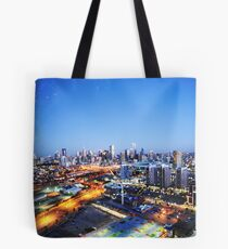 Melbourne Night Scape Tote Bag