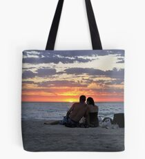 Romantic Couple At The Beach Tote Bag