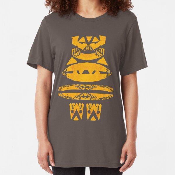 Maori - Gesicht Slim Fit T-Shirt