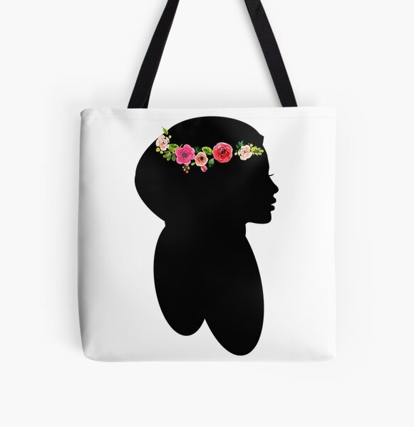 Hijabi Silhouette All Over Print Tote Bag