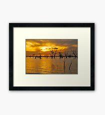 Menindee Sunset Framed Print