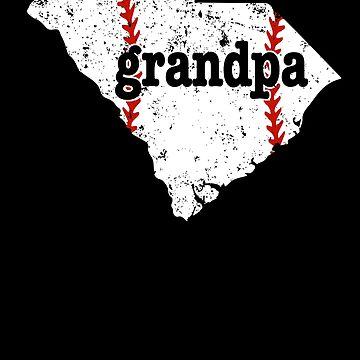 Grandpa Baseball South Carolina Softball Grandpa Shirt by shoppzee