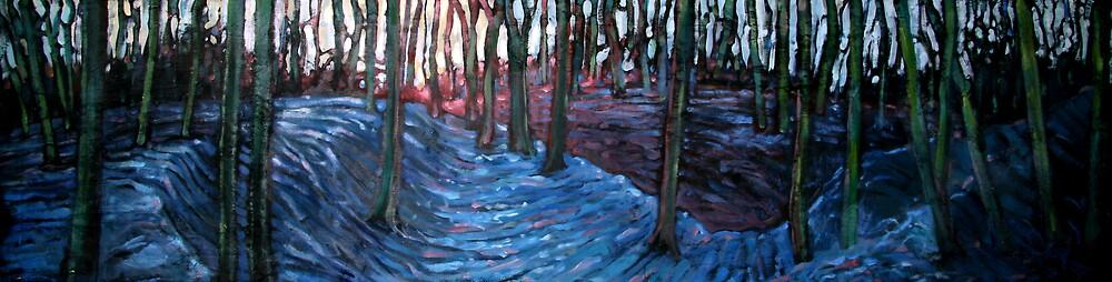 Snow in the oaks III by rickdickinson