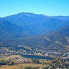 Sullivans Lookout Over Mt Beauty by Joy Watson