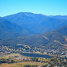 Sullivans Lookout Over Mt Beauty by Joy Watson