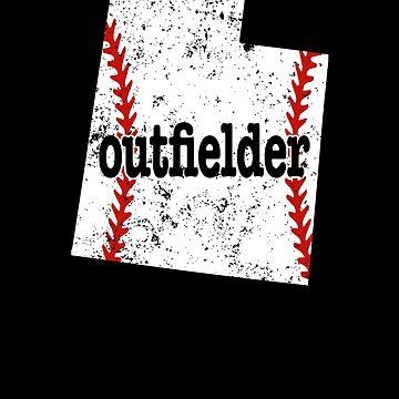 Utah Baseball Outfielder Softball Outfield Shirt by shoppzee