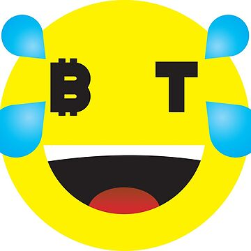 Bitcoin Tears of Joy Smiley by Bitcoin-Smiley