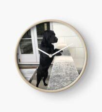 Black Labrador Standing Clock