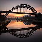 Sunrise at the Tyne Bridge by Great North Views