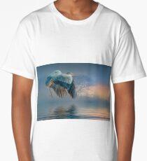 Misty Dawn Heron Long T-Shirt