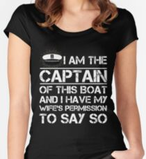 I am The Captain of This Boat Funny Boating Shirt Women's Fitted Scoop T-Shirt