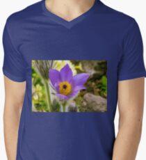 Flower macro Men's V-Neck T-Shirt