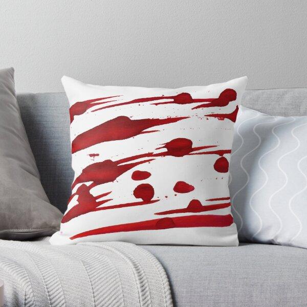 Red Ink Splash Throw Pillow