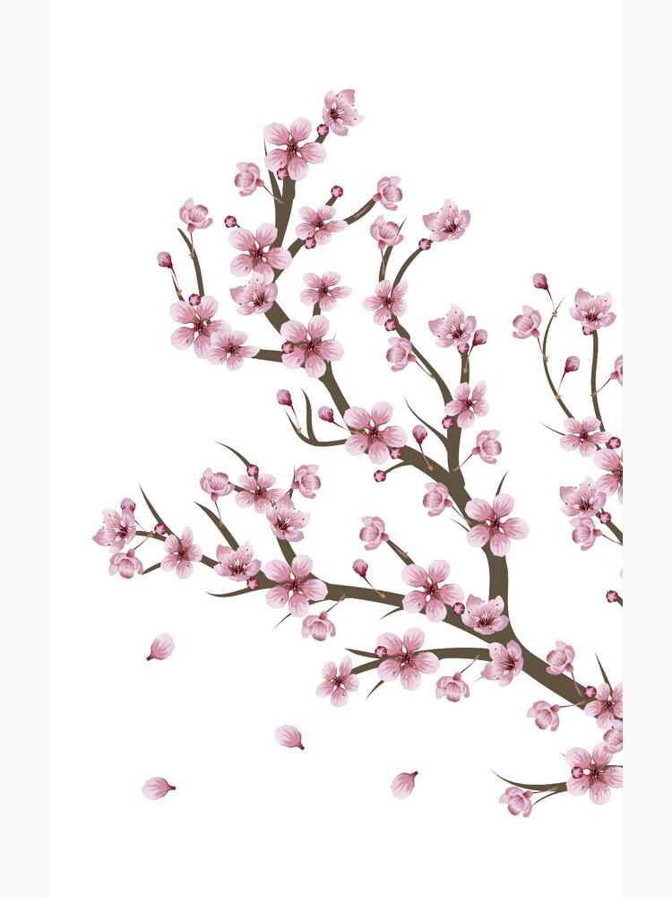 Blooming Sakura Branch design by AnnArtshock