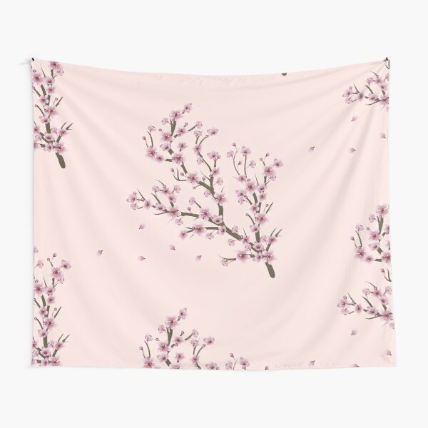 Blooming Sakura Branch design Tapestry