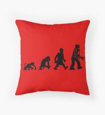 evolution darwin robot Throw Pillow