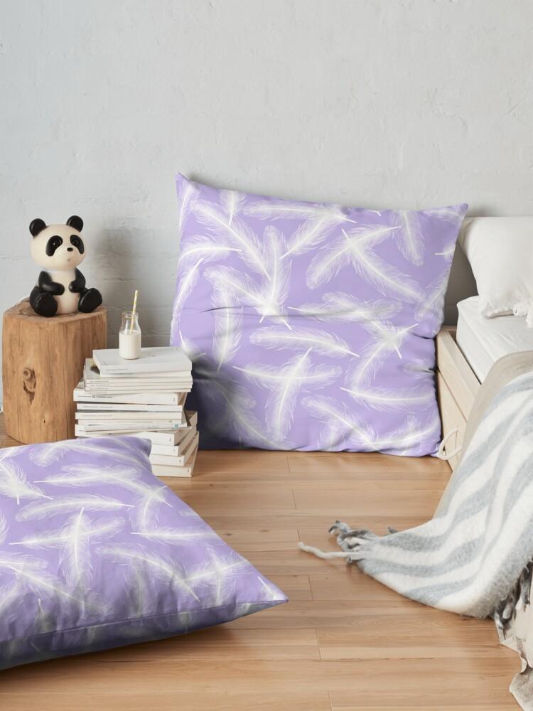 Alternate view of Fallen Angel - Lavender Floor Pillow