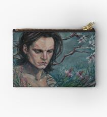 Buck & Flowers Zipper Pouch