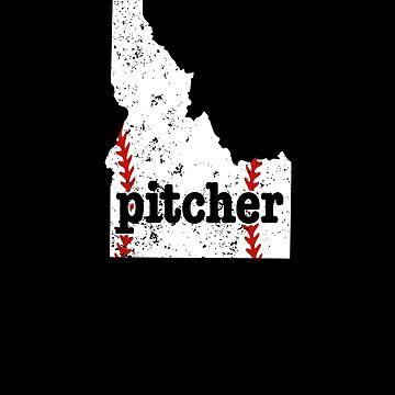 Pitcher Baseball Idaho Pitchers Softball Shirt Fastpitch by shoppzee