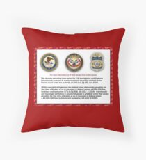 Domain seized by the US Department of Justice Throw Pillow