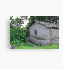 Wall and Window in a Building Canvas Print