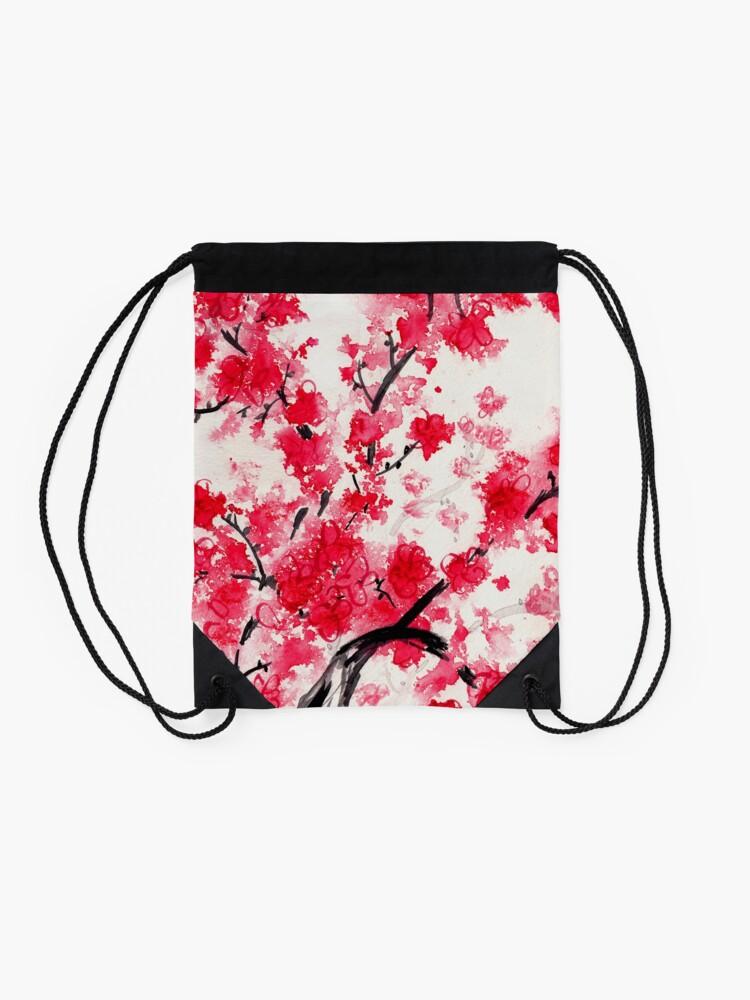 Alternate view of Cherry Blossoms Drawstring Bag
